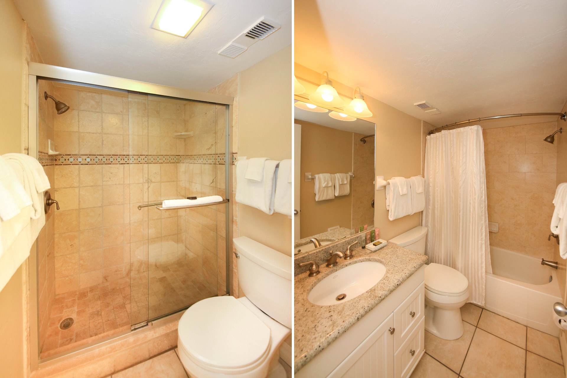 Master Bathroom and Guest Bathroom